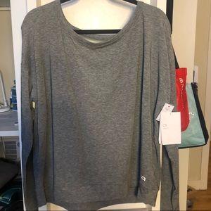 Gap Fit Gray Long Sleeve Shirt